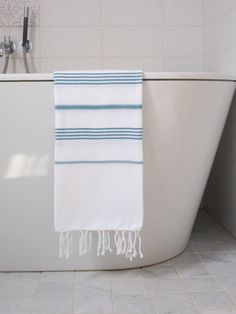 Bath Mat, Towel, Blue And White, Textiles, Lovely Things, Clothing, Design, Home Decor, Jewelry