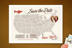 Up and Away Save the Date Cards