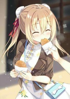 Anime eating