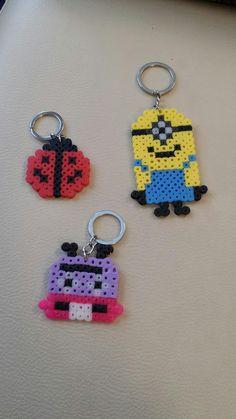 pequecosasalamanca artesania y manualidades: Llaveros hamma beads