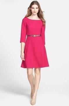 Eliza J Crepe A-Line Dress (Regular & Petite) on shopstyle.com