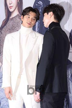 Gong Yoo y Lee Dong Wook en la conferencia de prensa de Goblin