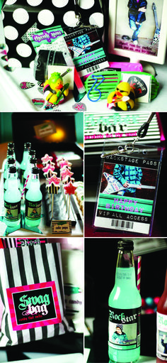 Rock Star Birthday Party Inspiration Board - great ideas for a karaoke birthday party for Corey