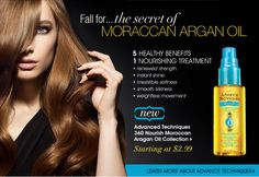 AVON - Products- Adv tech for Hair, Moroccan oil treatment- Works soo good on my hair & smells delightful! Luv it!