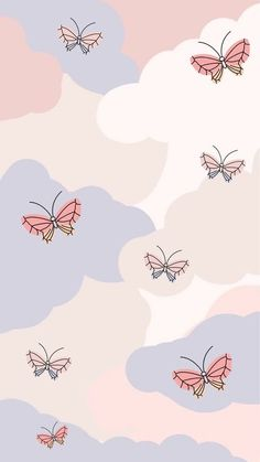 Butterfly Wallpaper Iphone, Phone Wallpaper Images, Cute Patterns Wallpaper, Iphone Background Wallpaper, Aesthetic Pastel Wallpaper, Kawaii Wallpaper, Galaxy Wallpaper, Iphone Lockscreen Wallpaper, Walpaper Iphone