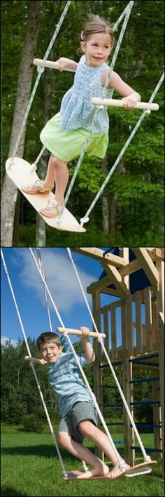 Are the kids begging for a swing? Forget the expensive swing set, all you need to get is a used skateboard! This DIY project only takes around 20 minutes to complete. Just perfect for kids excited to have their very own swing! http://diyprojects.ideas2live4.com/2015/09/30/skateboard-swing/ Is this going to be your next project for them?: #buildachildrensplayhouse