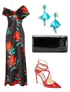 """Без названия #134"" by djelsomina-manchini on Polyvore featuring мода, Diane Von Furstenberg, Jimmy Choo, Yves Saint Laurent и Oscar de la Renta"