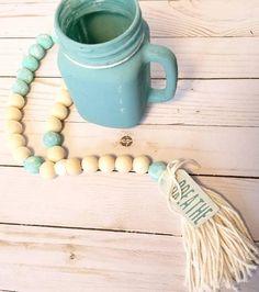 Beach house, coastal, boho shabby chic, farmhouse beads!   Check out this item in my Etsy shop https://www.etsy.com/listing/591733898/beach-house-custom-bead-garland-home