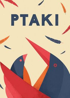 Ptaki - wall-being Polish Posters, Vintage Tins, Birds, Graphic Design, Deco, Wall, Movie Posters, Puppet, Kids Room