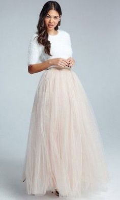 We love this skirt from Little Mistress Cream Tulle Maxi Skirt. In fact t's our favourite! What's more its only 50!! With the trend in wedding seperates this year, why not wear it as a wedding skirt? http://tidd.ly/4577a61e