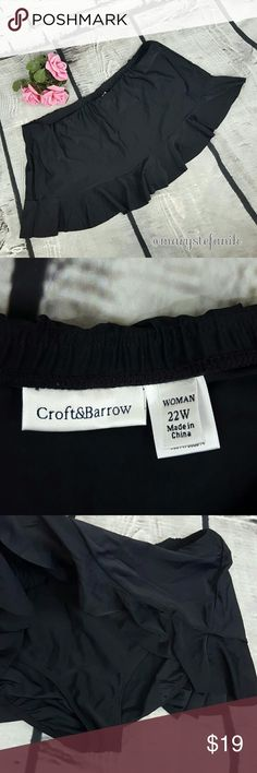 Croft & Barrow Black Swim Skirt size 22W Croft & Barrow Black Swim Skirt size 22W in excellent used condition. Perfect for vacation!  Please let me know if you have any questions. Happy Poshing! croft & barrow Swim