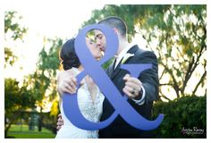 """Ampersand Photo Prop - '&' Sign for Engagement Photos - 15"""" tall and 3/4"""" Thick. $25.00, via Etsy."""