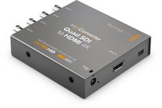 #BlackmagicDesign - Connect Single Link 6G-SDI, Dual Link 3G-SDI or Quad Link HD-SDI to the newest HDMI 4K projectors and televisions that support Ultra HD over a single HDMI link. Includes SD/HD and Ultra HD auto switching, plus analog or AES/EBU audio de-embedding.