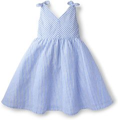 Hope & Henry Girls White Bow Shoulder Dress Made With Organic Cotton Frock Design, Baby Dress Design, Baby Girl Dress Patterns, Baby Clothes Patterns, Frocks For Girls, Little Girl Outfits, Little Girl Fashion, Little Girl Dresses, Kids Outfits