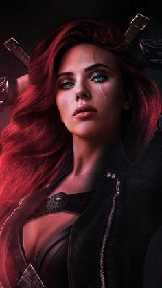 So I decided to do another live action League of Legends piece today for fun, this time I turned Scarlett Johansson into Katarina! Marvel Dc Comics, Marvel Heroes, Marvel Characters, Black Widow Scarlett, Black Widow Natasha, Marvel Women, Marvel Girls, Avengers Film, Marvel Avengers