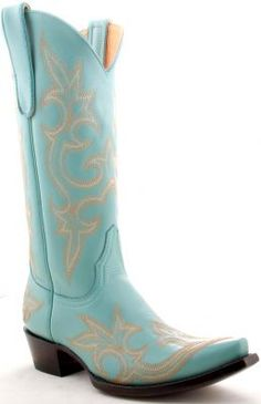 Womens Old Gringo Diego Boots Turquoise via @Allens Boots