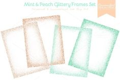 Check out Mint and Peach Glittery Frames Set by RaccoonGirl Design on Creative Market