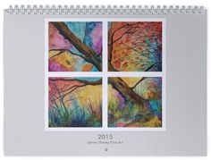 2015 Wall calendar. Paintings by Jaime Haney, $25 + $6.10 shipping to US. #gift #calendar