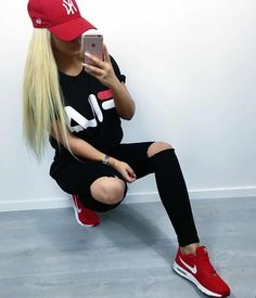 Loving this outfit - Leotards Athleisure Outfits, Sporty Outfits, Hot Outfits, Nike Outfits, Swag Outfits, Look Fashion, Teen Fashion, Fashion Outfits, Womens Fashion