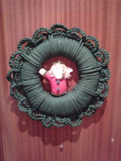 Corona trapillo navidad