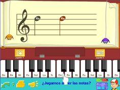 Juega y aprende las notas del pentagrama en clave de Sol con Pipo #musica #music #educación
