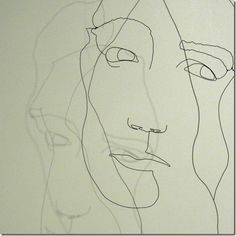 Ralf Westerhof – Wire Art - home- cool blind contour into sculpture project