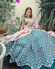Brand new Anushree Reddy 2019 Bridal Lehengas are here. Whether you are a fan of her style or not, you are going to love her latest designs. Indian Gowns Dresses, Indian Fashion Dresses, Dress Indian Style, Indian Designer Outfits, Designer Dresses, Ethnic Fashion, Red Lehenga, Bridal Lehenga, Lehenga Choli