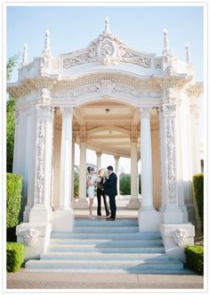 Wedding/Elopment at the Organ Pavilion in Balboa park in San Diego, CA