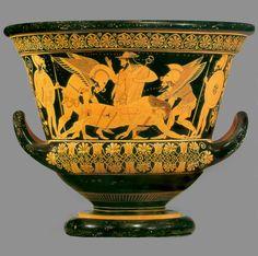 Euphronios (painter) and Euxitheos (potter),  Death of Sarpedon,  c. 515 BCE.  Greek Archaic,  fig. 5-23/ p. 119