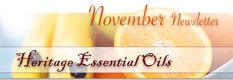 November Newsletter from Heritage Essential Oils:  Fighting the flu with essential oils
