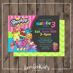 236 Best Shopkins Birthday Invitations And Party Supplies Images On