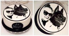 Tort ręcznie malowany