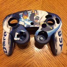 Falco and Marth custom GameCube controller
