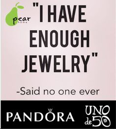 It's true! You can never have enough! #pearhome #pandora #unode50