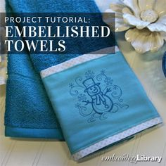 Embellished Towels