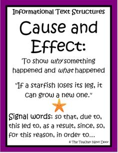 cause and effect definition examples