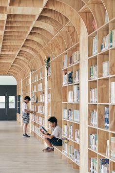 Lishin Elementary School Library / TALI DESIGNPhotos © Hey! Cheese