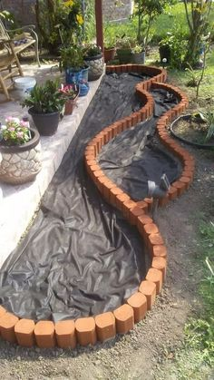Diy garden decor - 52 beautiful garden ideas to make your home front yard awesome 26 – Diy garden decor Backyard Patio, Backyard Landscaping, Diy Landscaping Ideas, Landscaping Borders, Nice Backyard, Pavers Patio, Patio Stone, Natural Landscaping, Backyard Garden Landscape