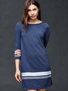 Three-quarter sleeve shift dress | Gap