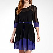 Alyx® 3/4-Sleeve Sheer Colorblock Dress, jcpenney, $40