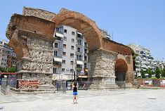 The Arch of Galerius or Kamara and the Rotunda are neighbouring early AD monuments in the city of Thessaloniki, in the region of Central Macedonia in northern Greece. Greece Tours, Greece Travel, Greece Trip, Macedonia Greece, Sassanid, Roman Architecture, Early Christian, Roman Empire, Photos