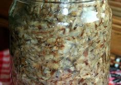 Meat Recipes, Pickles, Oatmeal, Frozen, Food And Drink, Canning, Drinks, Breakfast, Food