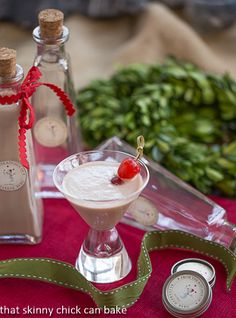 Homemade Baileys Irish Cream in a martini glass with a cherry garnish Homemade Baileys, Homemade Irish Cream, Homemade Liquor, Baileys Irish Cream, Homemade Gifts, Smoothie Popsicles, Smoothie Drinks, Smoothies, Girls Night Drinks