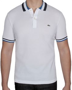 Lacoste Mens Semi Fancy Polo Shirt Short Sleeve Cotton Slim PH2011-51 VHR Size