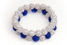 Indianapolis Colts Shamballa Beaded Bracelet by TeamWraps on Etsy