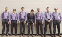 Groomsmen Attire Purple, Groomsmen Outfits, Bridesmaids And Groomsmen, Groom Attire, Groomsmen Grey, Groom Outfit, Lilac Wedding, Trendy Wedding, Purple Wedding