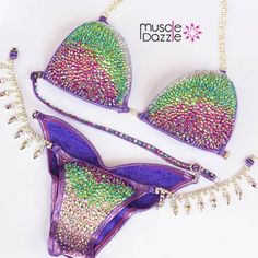 Muscle Dazzle crystal bikinis. Our amazing low prices include everything!     www.muscledazzle.com