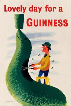 Guinness-Gardener by Tom Eckersley