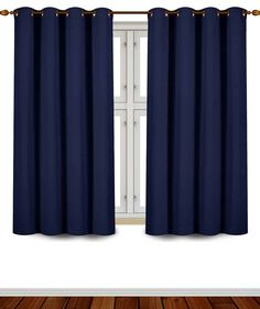 Utopia Bedding Blackout Room Darkening and Thermal Insulating Window Curtains/Panels/Drapes - 2 Panels Set - 8 Grommets per Panel - 2 Tie Backs Included (Navy, 52 x 63 Inches with Grommets) Kids Curtains, Cool Curtains, Blue Curtains, Curtains For Sale, Window Curtains, Modern Curtains, Bedroom Curtains, Room Darkening Curtains, Blackout Curtains