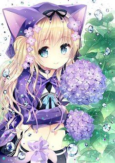 #Loli #Nekogirl #Anime #Flower
